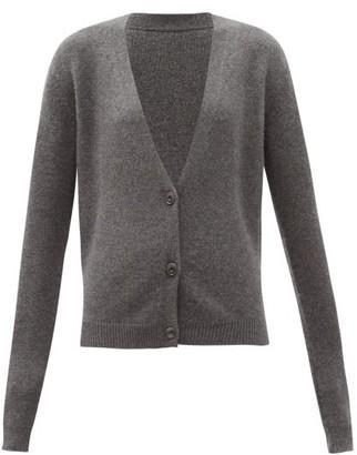 Raey Organic-cashmere Knitted Cardigan - Grey Marl