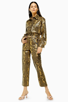 Topshop Yellow Snake Pant