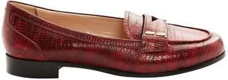 Miu Miu \N Burgundy Leather Flats