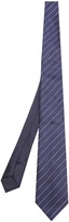 Dunhill Striped linen and silk-blend tie