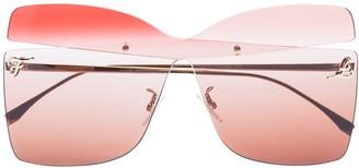 Fendi Ombre Square Cutout Sunglasses