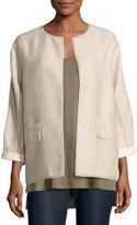 Lafayette 148 New York Beatriz Rustica Cotton/Linen Jacket, Multi