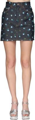 Marc Jacobs Printed Denim Mini Skirt