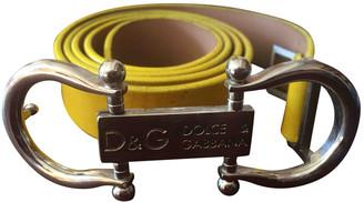 Dolce & Gabbana Yellow Patent leather Belts