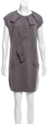 Nina Ricci Merino Wool Sleeveless Sweater Dress