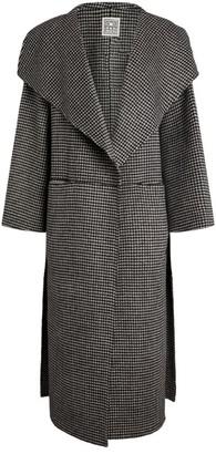 Totême Wool-Cashmere Check Print Coat