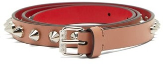 Christian Louboutin Loubispikes Studded Leather Belt - Light Pink