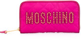 Moschino logo embroidered wallet - women - Polyester - One Size