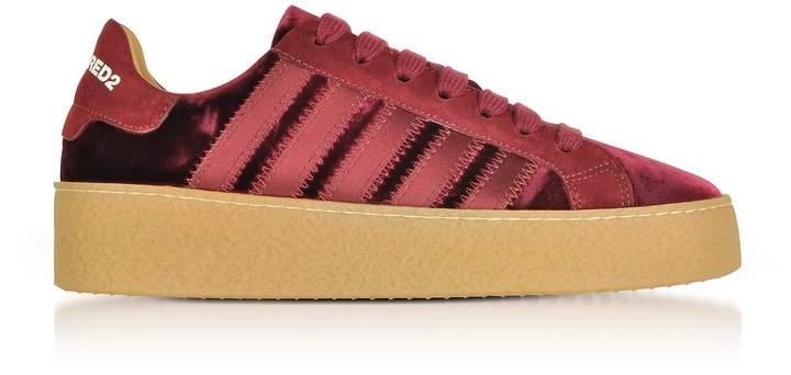 new style eef7c 81672 Burgundy Velvet Sneakers - ShopStyle