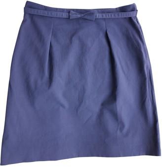 Tara Jarmon Navy Cotton - elasthane Skirt for Women