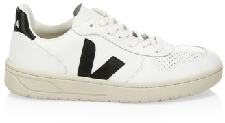 Veja V-10 Recycled Mesh Lace-Up Sneakers
