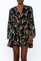 Olivaceous Printed Dress