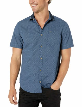 Buffalo David Bitton Men's Short Sleeve Button Down poplin Shirt