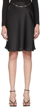 Paco Rabanne Black Satin Skirt
