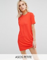 Asos Mini T-Shirt Dress With Button Detail