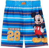 "Disney Disney's Mickey Mouse ""Mickey 28"" Toddler Boy Striped Swim Trunks"