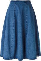 Barena A-line denim skirt