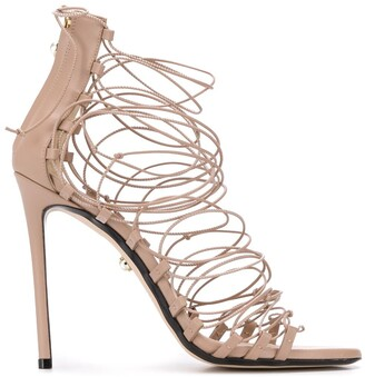 ALEVÌ Milano Multi-Strap Front Heeled Sandals