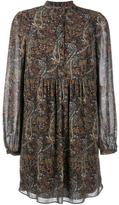 Saint Laurent Button Placket Paisley Dress