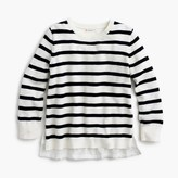 J.Crew Girls' eyelet-back striped sweater
