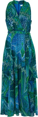 Wallis PETITE Blue Paisley Maxi Dress