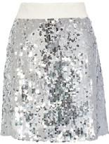 Dolce & Gabbana Sequined Tulle Mini Skirt