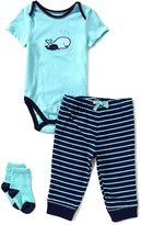Little Me Baby Boys 3-12 Months Whale 3-Piece Layette Set