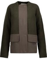 Jil Sander Paneled Fleece And Wool-Blend Coat