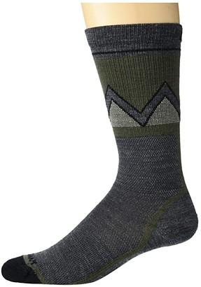 Wigwam Point Reyes Crew, Single (Black) Crew Cut Socks Shoes