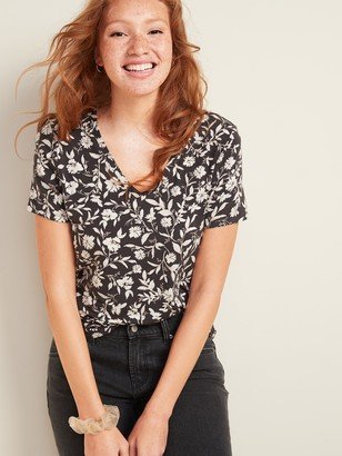 Old Navy Luxe V-Neck Tee for Women