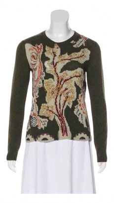 Christian Dior Green Cashmere Knitwear