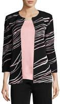 Misook Ribbon 3/4-Sleeve Jacket, Plus Size