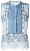 Ermanno Scervino lace tank top - women - Silk/Cotton/Linen/Flax/Polyamide - 42