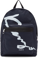Kenzo Navy Signature Logo Backpack