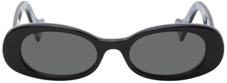 Gucci Black Oval Sunglasses