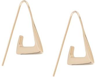 BAR JEWELLERY Para angular hoop earrings