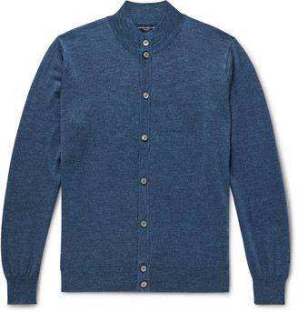 Peter Millar Giardini Melange Wool, Silk And Linen-Blend Cardigan