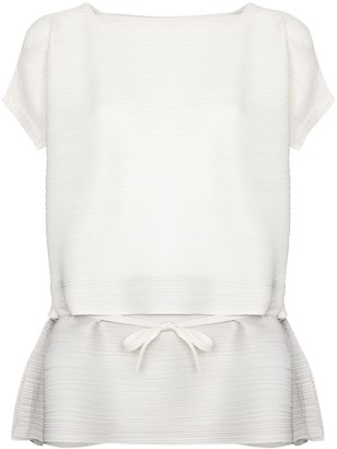 Pleats Please Issey Miyake Plisse Pleated Layered Top