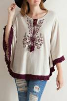 Entro Oatmeal Embroidered Sweater