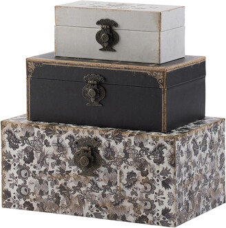 A&B Home Set Of 3 Decorative Boxes