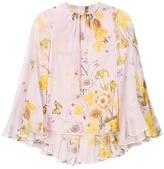 Giambattista Valli Floral-printed silk-chiffon blouse