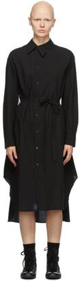 Regulation Yohji Yamamoto Black Asymmetric Collar Dress