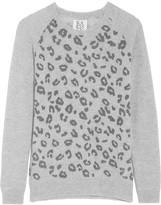 Zoe Karssen Leopard-print wool and cashmere-blend sweater