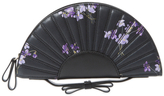 RED Valentino Floral Leather Fan Clutch