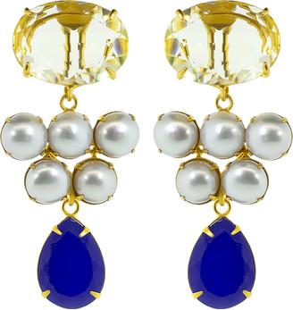 Bounkit Lemon Quartz Earrings Set