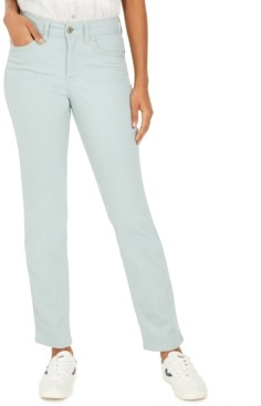 Style&Co. Style & Co Petite Rail Tummy-Control Straight-Leg Jeans, Created for Macy's