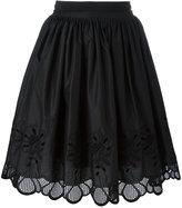 Moncler floral scalloped skirt - women - Cotton - 40
