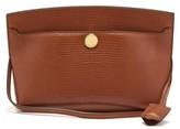 Burberry Society Small Lizard-effect Leather Shoulder Bag - Womens - Tan