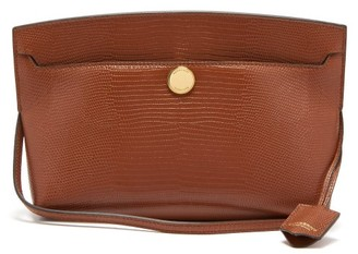 Burberry Society Small Lizard-effect Leather Shoulder Bag - Tan