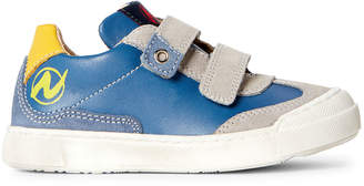 Naturino Toddler/Kids Boys) Grey & Blue Leather Low-Top Sneakers